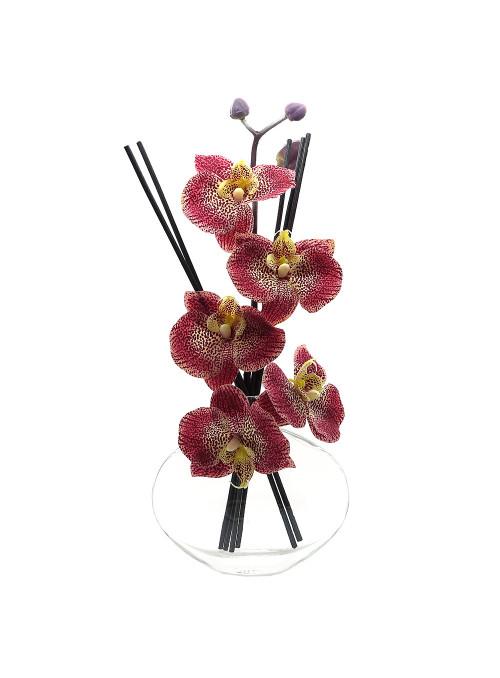 vase diffuseur orchidee rouge café