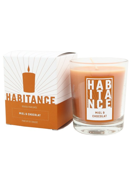 Scented Candle CANDY CANE (Honey, Chocolate)