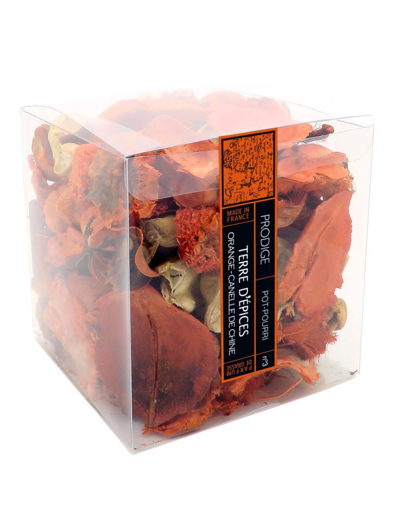 Pot pourri boite TERRE D'EPICES (Orange Cannelle)