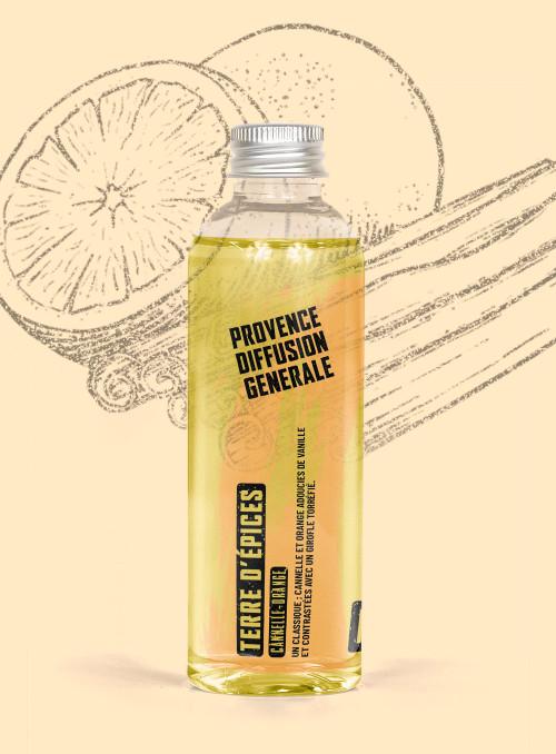 Diffuseur de parfum Recharge TERRE D'EPICES (Cannelle de Chine, Orange)