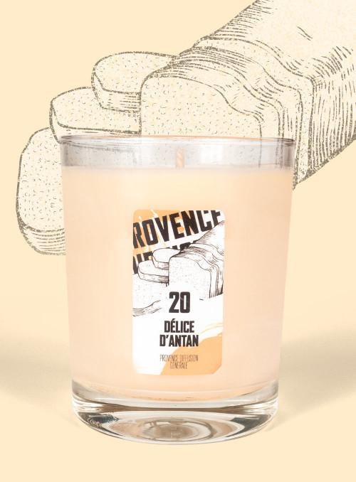 Bougie parfumée DELICE D'ANTAN (Pain d'épices) 150gr