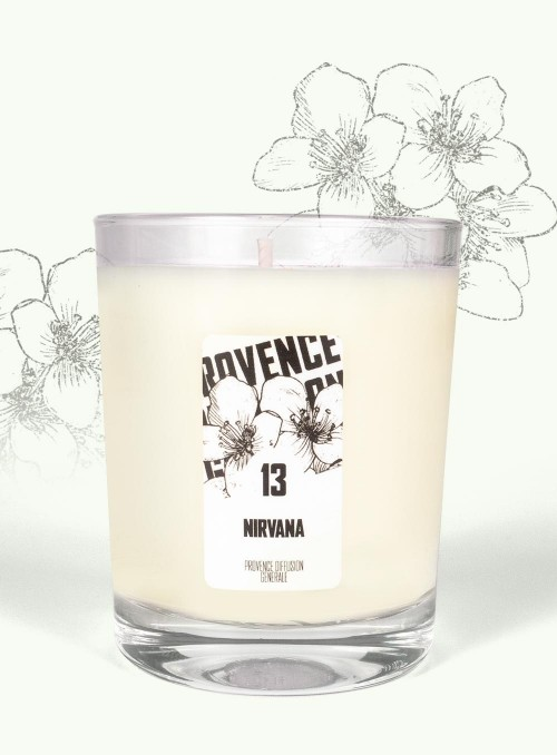 Bougie parfumée NIRVANA (Jasmin) 150gr