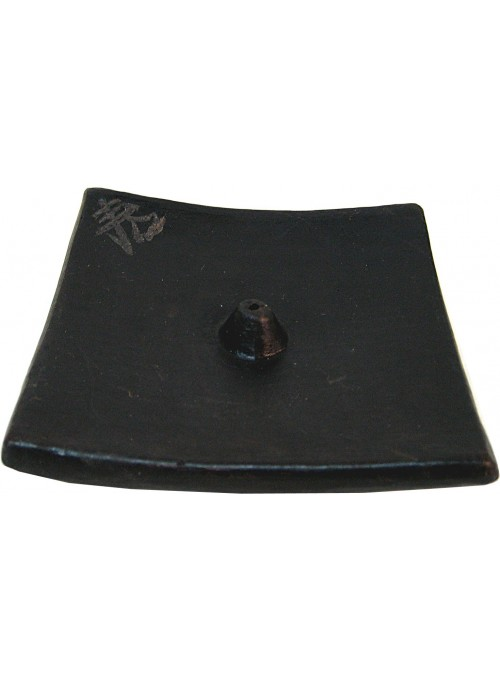 Ceramic Plate Boudha Black