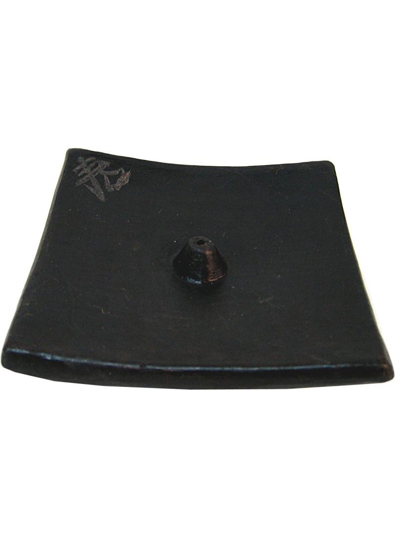 Assiette Céramique Boudha Noir