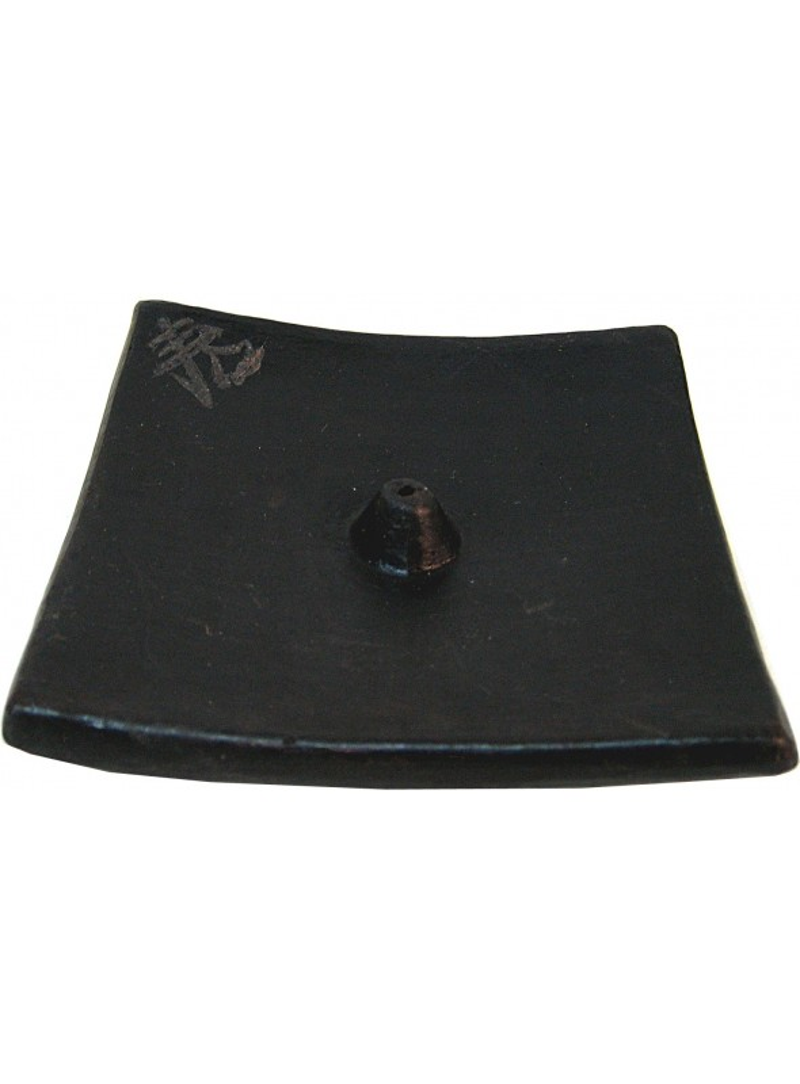 Ceramic Plate Boudha Black