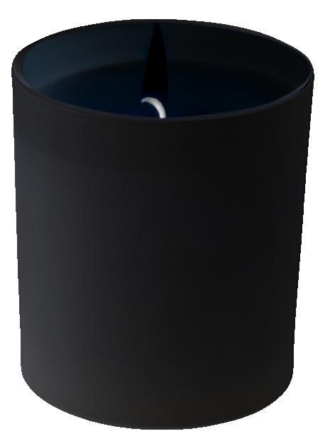 verre laqué noir mat